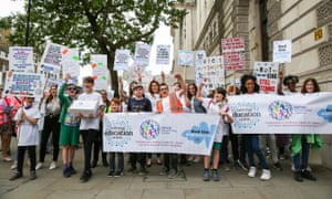 Campaigners demanding action to address the crisis in Send