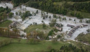 The mayor of Nic, Christian Estrosi, called the flooding the worst flooding disaster in the area for more than a century after flying over the worst-hit area by helicopter.
