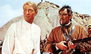 Peter O'Toole and Anthony Quinn in Lawrence of Arabia.