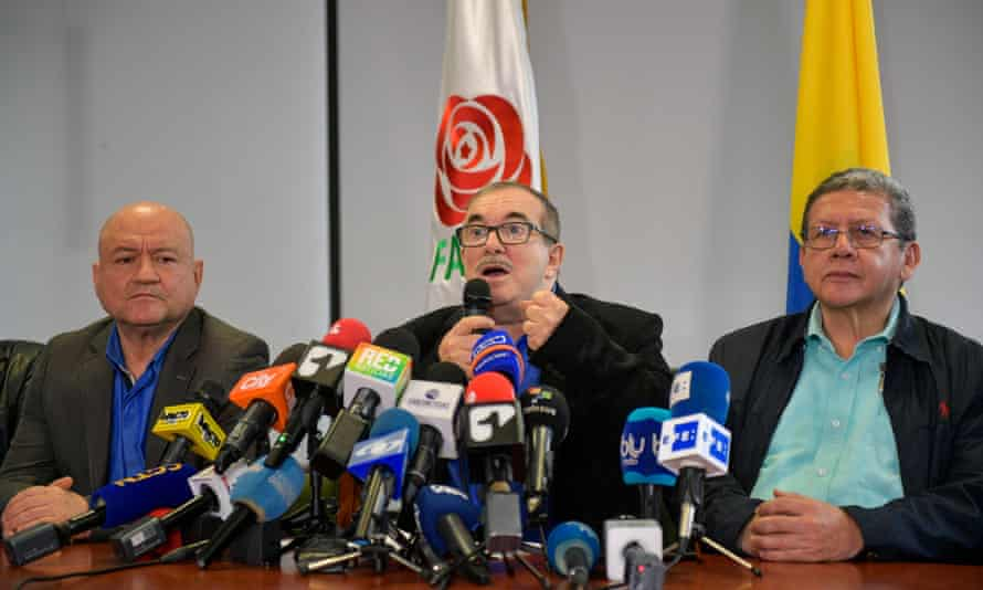 The Farc's leader, Rodrigo 'Timochenko' Londoño, insisted his party would continue to honour the peace deal.