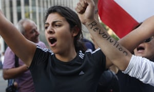 Anti-government demonstrator in Beirut