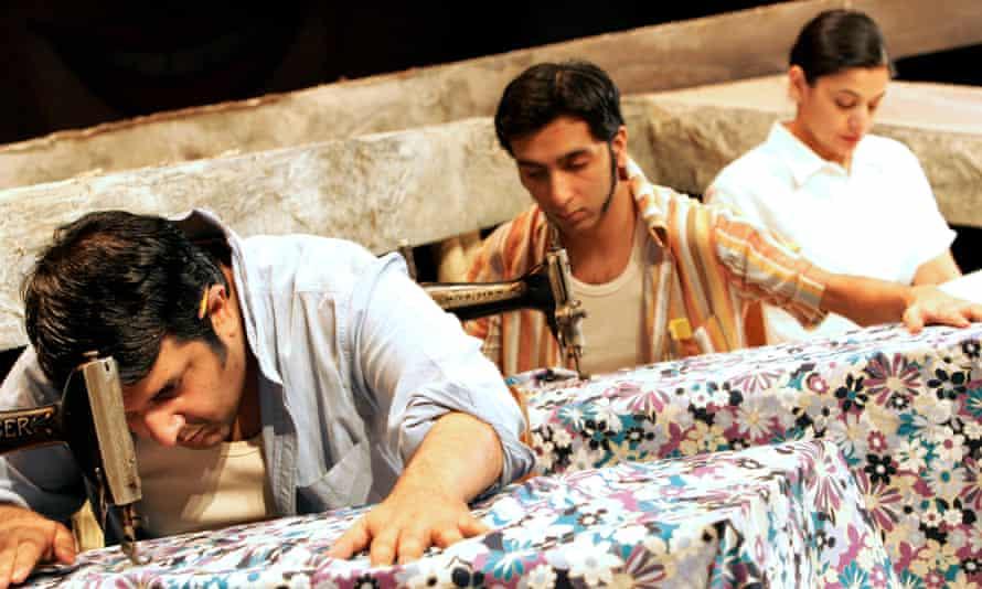 Makeshift family … Rehan Sheikh as Ishvar, Amit Sharma as Omprakash and Sudha Bhuchar as Dina in Tamasha Theatre's 2006 adaptation of A Fine Balance.
