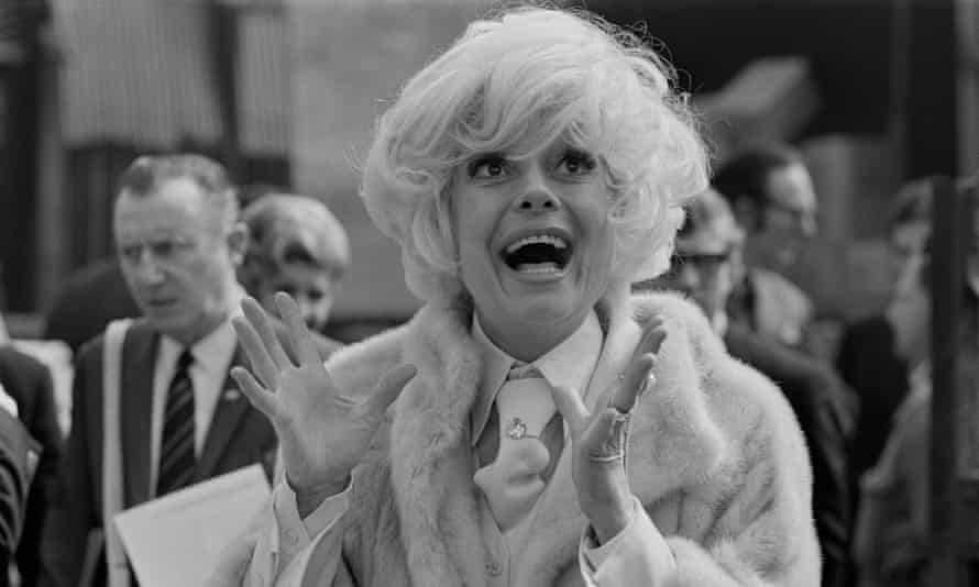 Bright eyes and a megawatt smile ... Carol Channing in London in 1970.