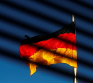 The German flag is pictured at the Reichstag building.