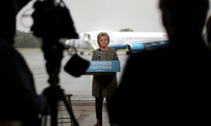 'The kinds of rhetoric and language Mr Trump has used is giving aid and comfort to our adversaries,' Hillary Clinton told reporters.'