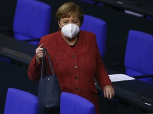 Purse first. Mask second. Angela Merkel.