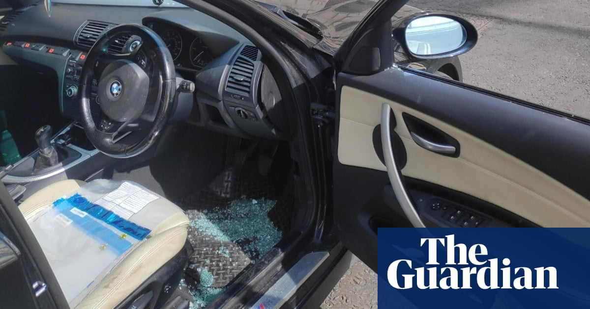 Police smash car window of man on way home from C4 interview about police racism
