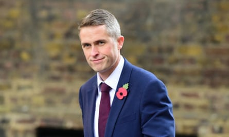 Gavin Williamson in Downing Street, London.