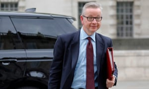 Michael Gove arrives at the Cabinet Office for talks.