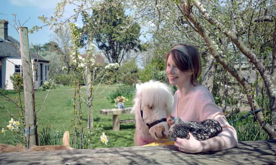 Rebecca's ark: the author with three companions.