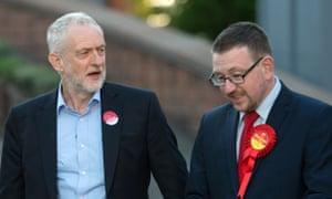 Jeremy Corbyn and Andrew Gwynne