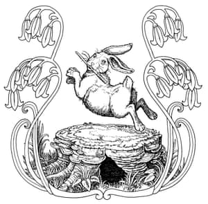 A whiskery old rabbit appears from the Stump from Babbity Rabbit and her Cackling Stump