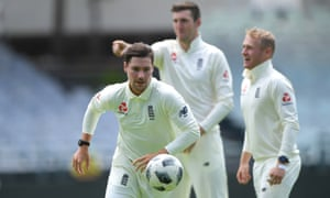 Rory Burns was injured playing football with his England teammates on the Newlands outfield before training.