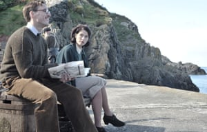 Sam Claflin and Gemma Arterton as the sparring film-makers in Their Finest.