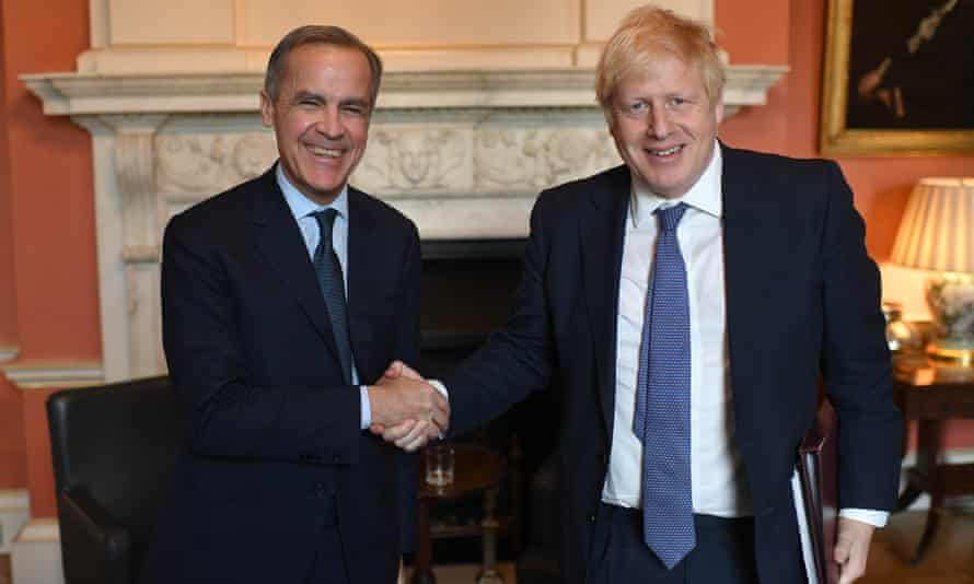 Carney meeting Boris Johnson to discuss his role as finance adviser for Cop26.