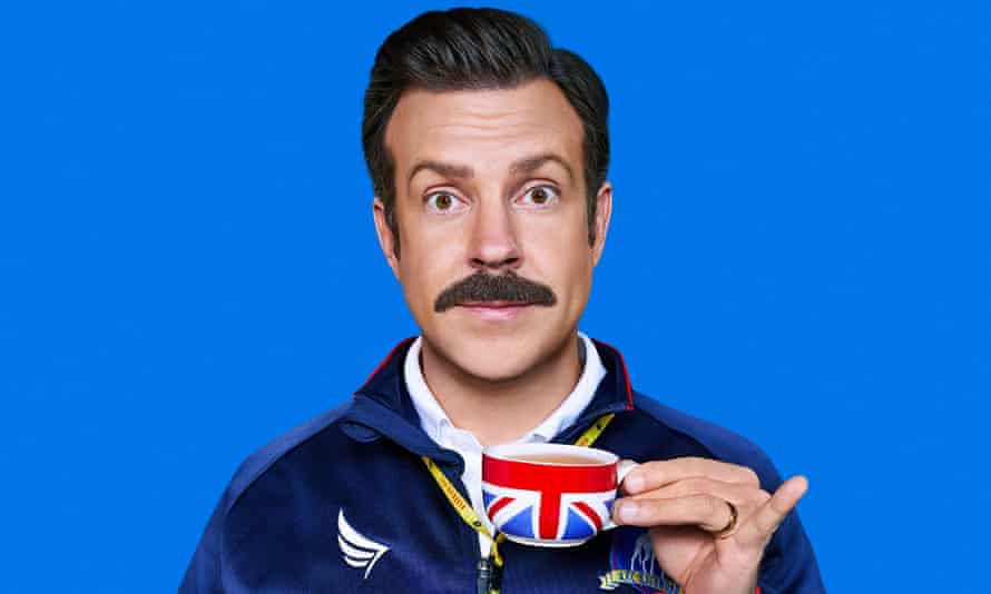 Football's his cup of tea ... Sudeikis as Ted Lasso.