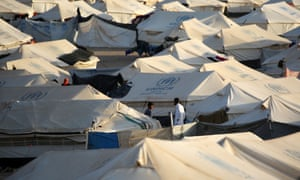 Tents at a Syrian refugee camp
