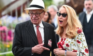 Rupert Murdoch and Jerry Hall at the Chelsea flower show last May.