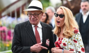 Rupert Murdoch has been on a Twitter honeymoon since shortly after his marriage to Jerry Hall