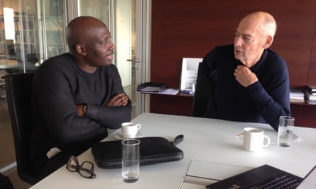 Kunlé Adeyemi and Rem Koolhaas at the OMA offices in Rotterdam