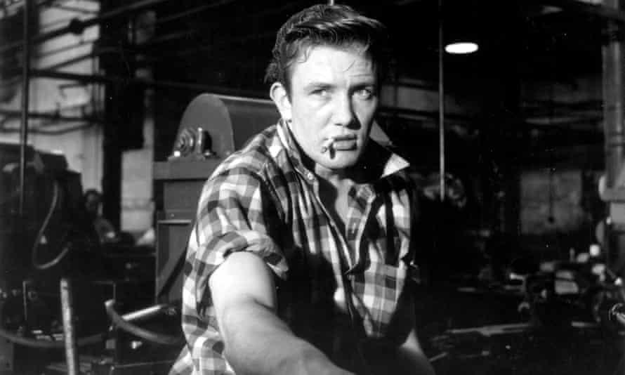 Sensational … Finney as Arthur Seaton in Saturday Night and Sunday Morning.