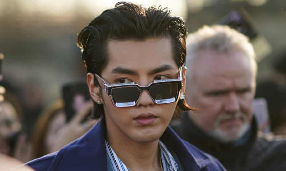 Kris Wu at Paris fashion week in January 2021