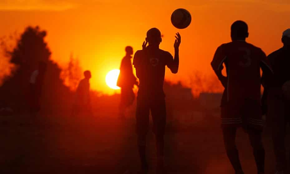 South African kids play football