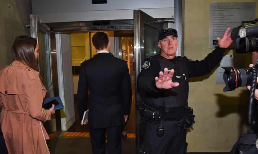 Labor Senator Stephen Conroy's staff arrive