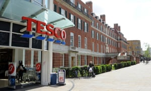 A Tesco store in Clapham, south London.