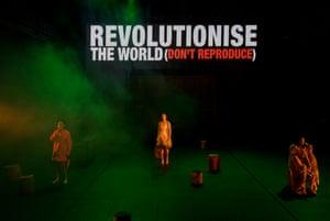 Elizabeth Esguerra, Belinda McClory and Ming-Zhu Hii in the Australian premiere of Revolt. She Said. Revolt Again.