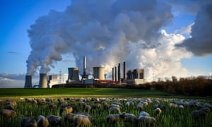A brown coal-fired power plant in Germany