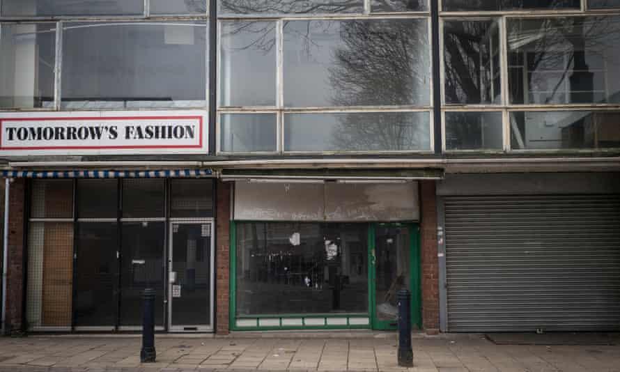 Empty shops in Walsall