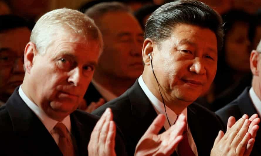 Prince Andrew and Xi Jinping during the Confucius Institutes event in London