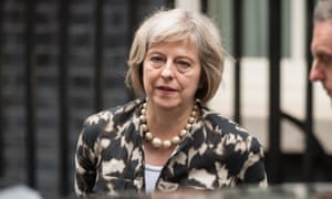 Theresa May leaves 10 Downing Street after a Cabinet meeting.