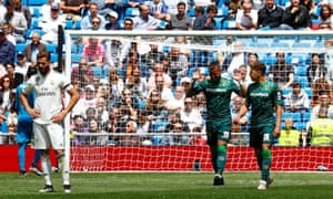 Ex-Real Madrid forward Jesé refuses to celebrate after scoring for Real Betis against his former club.