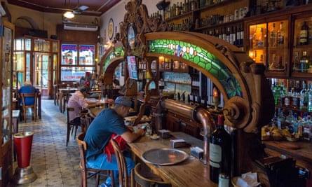 """customers on stools at """"El Federal"""" Bar"""