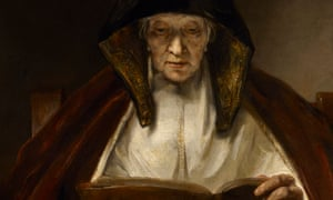 rembrandt s an old woman reading subtle drama and rugged human