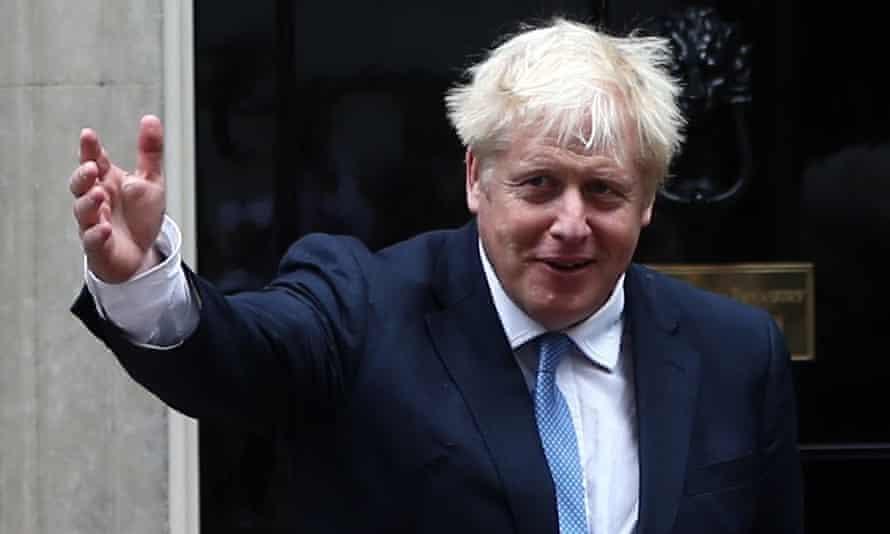 Boris Johnson outside number 10