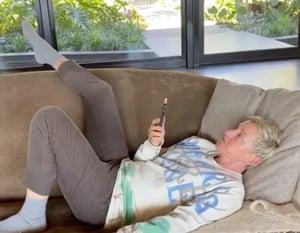 Ellen Degeneres at home.