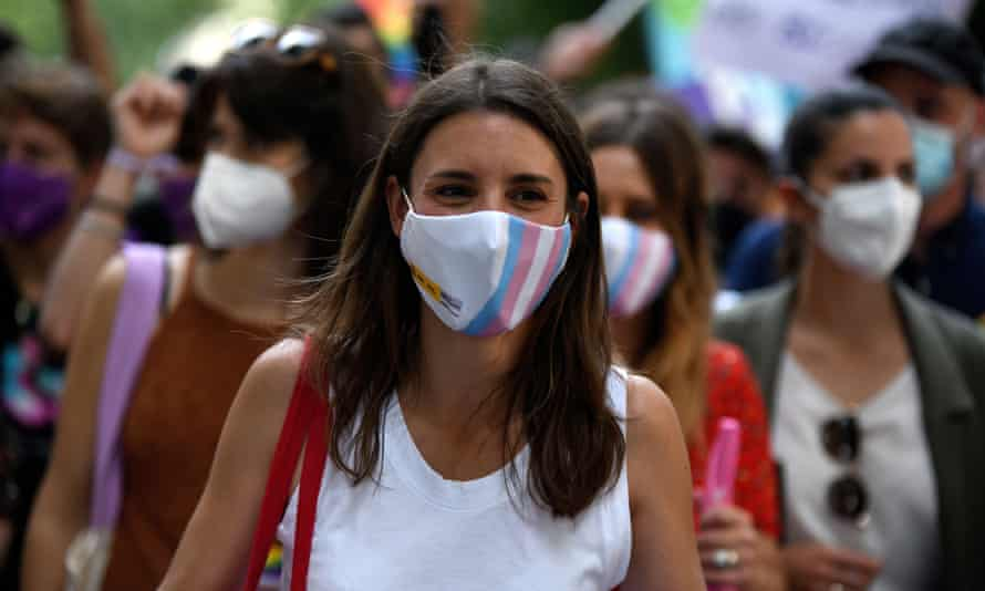 Spain's equality minister, Irene Montero, said hate crimes had risen.
