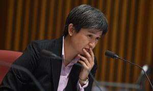 Labor Senator Penny Wong speaks during Senate estimates last week.