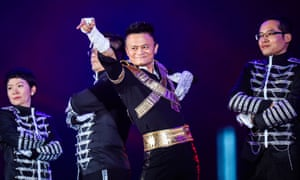Jack Ma performing at 18th anniversary celebrations for the Alibaba Group in Hangzhou, China, September 2017
