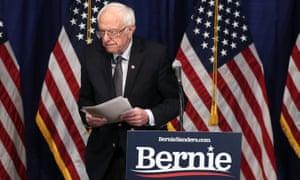 Bernie Sanders speaks to reporters on Wednesday in Burlington, Vermont.