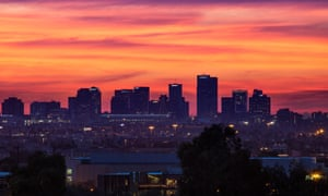 The Dowtown Phoenix skyline at sunset, the city is witnessing a food and drink boom.