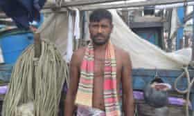 Kalam Sheikh at the docks near his village in Patuakhali