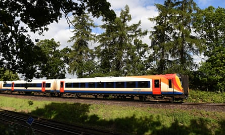 South West Trains train in coutryside