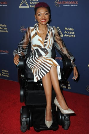 Lifestyle influencer Lauren Spencer at the 40th Annual Media Access Awards, styled by Stephanie Thomas of Cur8able.