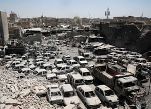 Mosul, Iraq A view of destruction near the site of the Great Mosque of al-Nuri