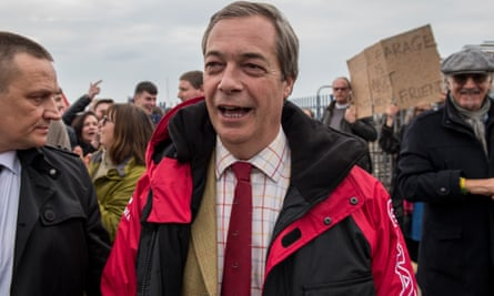Nigel Farage – who 'has had more comebacks than Frank Sinatra – just without the success', according James McGrory, of the People's Vote.