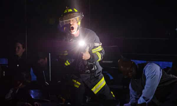Philip Sheffield as Firefighter 1 in Tansy Davies's Between Worlds, one of the winners at the British Composer Awards.
